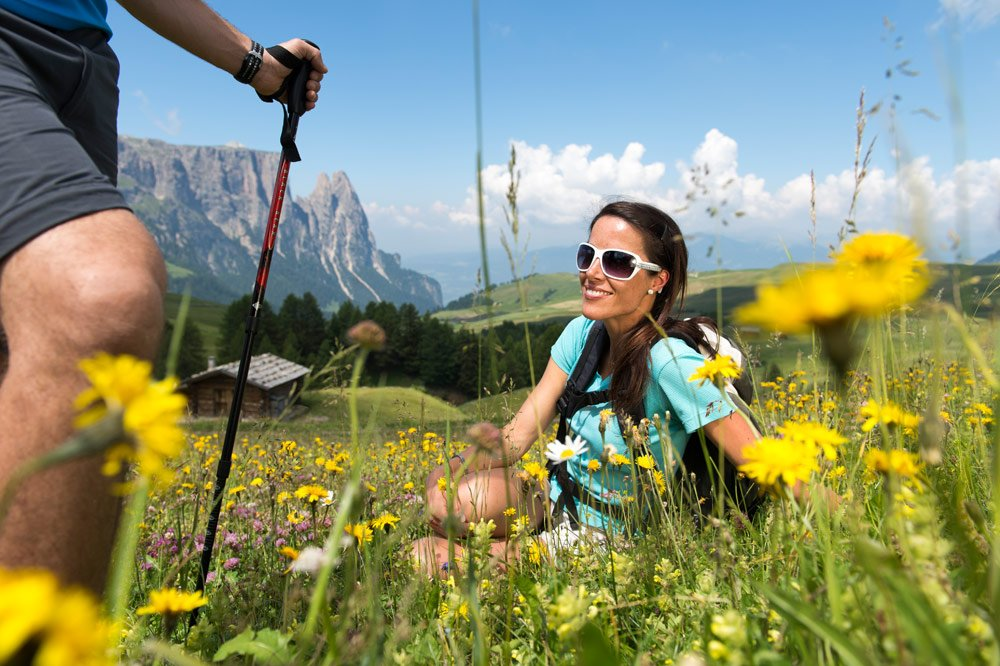 Adventurous holiday in the hiking and free time paradise of the Siusi Alp